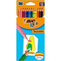 Krāsainie zīmuļi BIC TROPICOLORS Pouch 12 gb 022503,  (8325669)