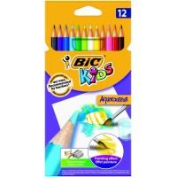 Krāsainie akvareļu zīmuļi BIC AQUAQOULEUR Pouch 12 gb 8575613,  (8575613)