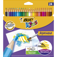 Krāsainie akvareļu zīmuļi BIC 24gb,  (8575633)