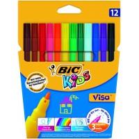 Flomasteri BIC KIDS VISA, Pouch 12 gb 002758,  (888695)