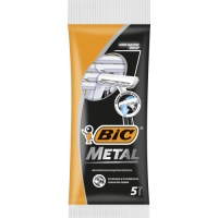 Skuvekļi BIC Disposable one-blade shave METAL  (5 pcs)