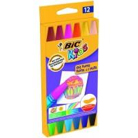 Eļļas pasetļkrītiņi BIC, 12 krāsas 380349,  (926446)