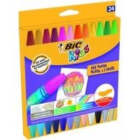 Eļļas pasetļkrītiņi BIC, 24 krāsas 380356,  (926447)