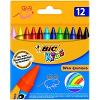 Vaska krītiņi BIC, 12 krāsas 616834,  (927829)