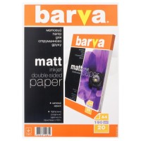 Foto papīrs Barva Double-sided Mate, 190 g/m², A4, 20 sheets (B190-T02)