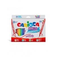 Flomasteri Carioca Birello, divpusēji, 24 krāsas,  (200-01240)